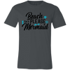 Image of Beach Please Mermaid 3001C Bella + Canvas Unisex Jersey Short-Sleeve T-Shirt - Sweet Dragon Mama