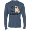Image of Pug Love Rescued Me Hooded T-Shirt