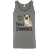 Image of Pug Love Rescued Me 3480 Bella + Canvas Unisex Tank