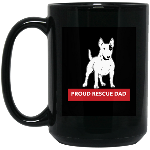 Proud Rescue Dad 15 oz. Black Mug