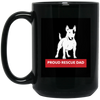 Image of Proud Rescue Dad 15 oz. Black Mug