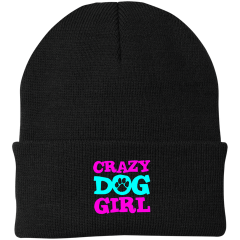 Crazy Dog Girl CP90 Port Authority Knit Cap