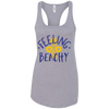 Image of Feeling Beachy Next Level Ladies Racerback Tank