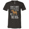 Image of Home is Where the Dog Hair 3005 Bella + Canvas Unisex Jersey SS V-Neck T-Shirt