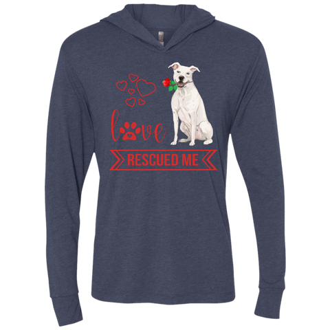 Love Rescued Me-Bull Terrier Unisex LS Hooded T-Shirt
