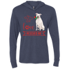 Image of Love Rescued Me-Bull Terrier Unisex LS Hooded T-Shirt