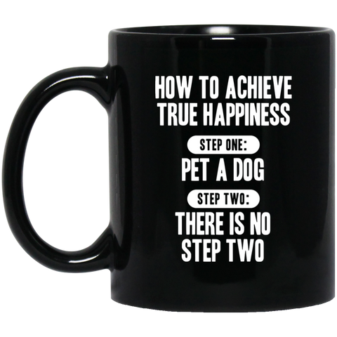 Pet a Dog 11 oz. Black Mug