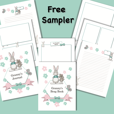 Grandma and Me -A Printable Interactive Journal and Activity Book - Sweet Dragon Mama