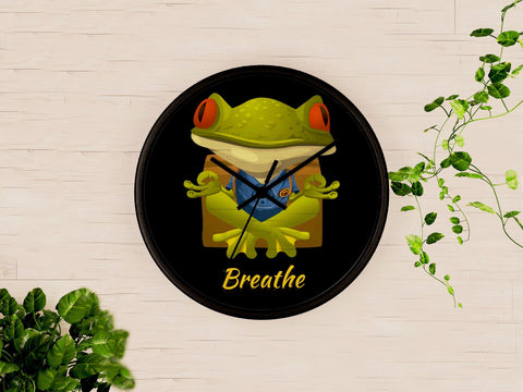 Mindful Froggie Wall clock