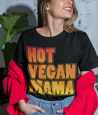 Hot Vegan Mama Unisex Short-Sleeve T-Shirt