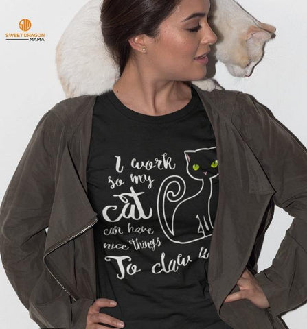 I Work so My Cat... Unisex Short-Sleeve T-Shirt
