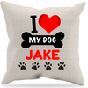 "Image of ""I Love My Dog"" Pillow, Personalized"