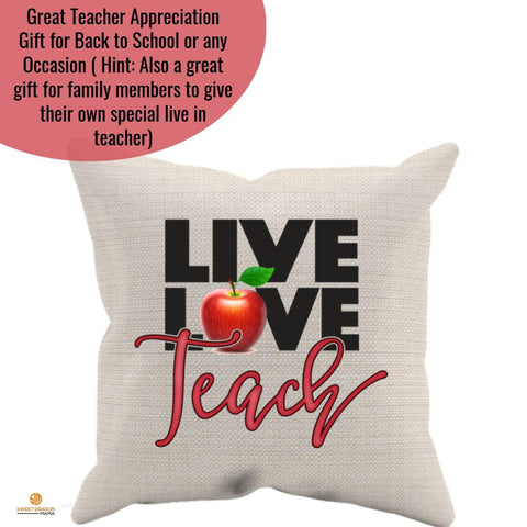 Live Love Teach Pillow