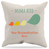 Image of Mama Bird Personalized Pillow Case + Insert