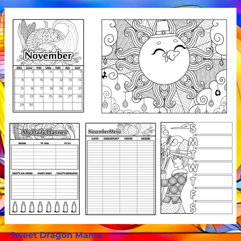November Printable Coloring Pages
