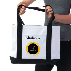 Pilates Place Polestar Training Tote-personalized,special order - White/Black