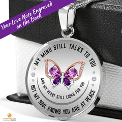 My Soul Knows Luxury Necklace with optional custom engraving - Sweet Dragon Mama