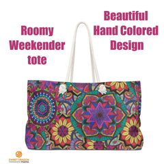 Sunflower Burst Weekender Bag - Sweet Dragon Mama