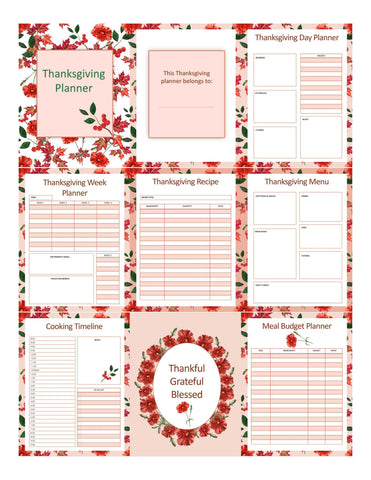 Thanksgiving Planner Printable - Sweet Dragon Mama