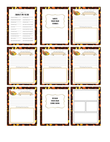 My Thanksgiving Journal Printable Download