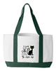 "Image of Tote Bag-""I work so my cat..."""