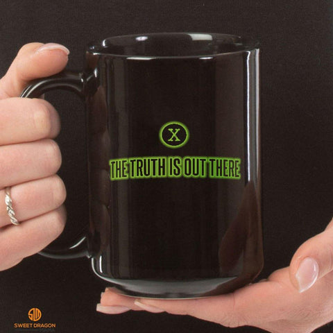 The Truth is Out There Black Mugs