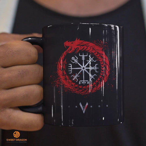 Vikings Black Mugs