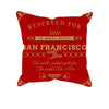 Image of San Francisco Football Fan Personalized Pillow Cover