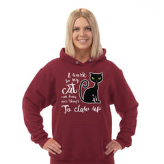 """I Work so My Cat.."" Adult Hoodie"