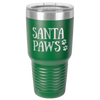 Image of Santa Paws Polar Tumbler, gift idea for cat and dog lovers, keep cold drinks cold and heated beverages hot