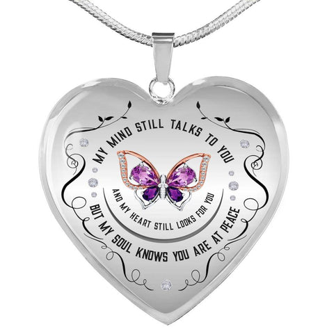 My Soul Knows Heart Pendant Necklace optional engraving