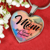 "Image of ""My Precious Mom""-Heart Necklace Silver engraved - Sweet Dragon Mama"