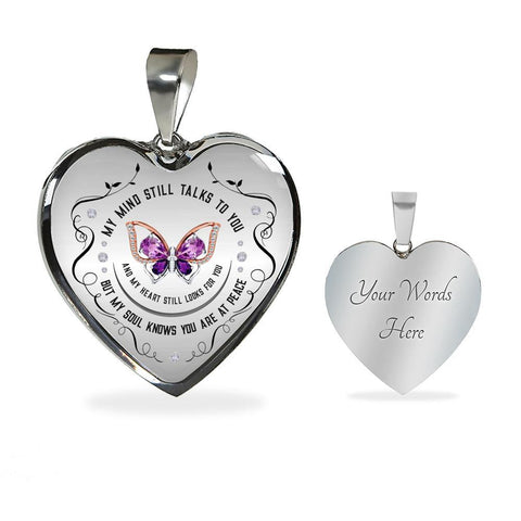My Soul Knows Heart Pendant Necklace optional engraving - Sweet Dragon Mama