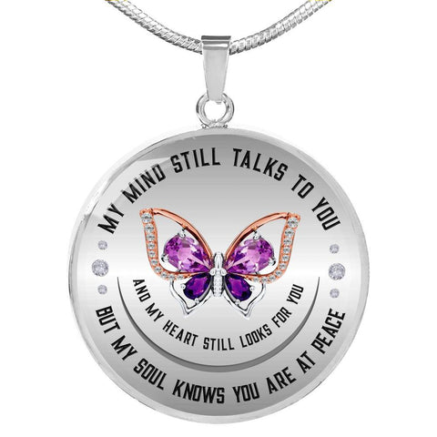 My Soul Knows Luxury Necklace with optional custom engraving