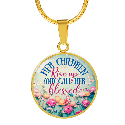 Her Children Rise- Necklace/Bangle Bracelet, Silver/ Gold, engraved