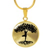 Image of Yogi Tree of Life Personalized Silver or Gold Luxury Necklace or Bangle