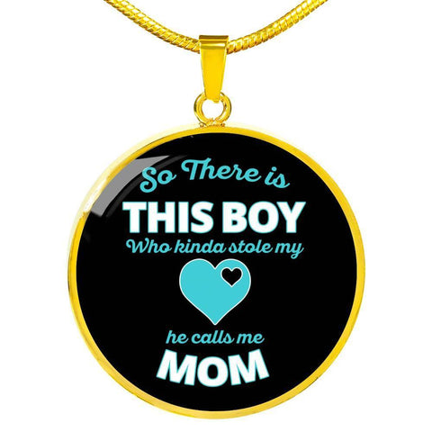 So There is This Boy- Silver/Gold Necklace-personalized - Sweet Dragon Mama