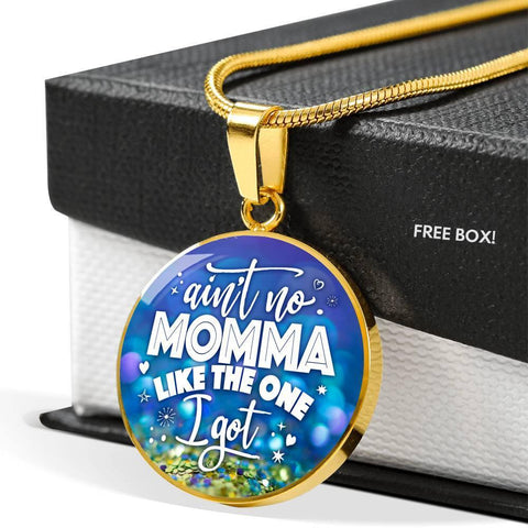 Ain't No Momma, Silver/Gold Necklace, engraved - Sweet Dragon Mama