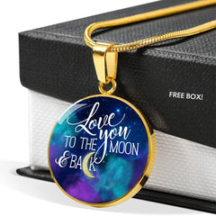Love You to the Moon and Back, necklace, personalized
