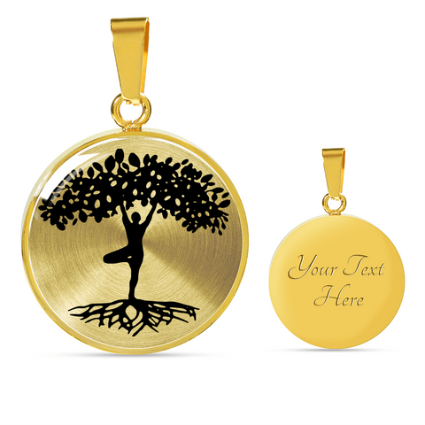 Yogi Tree of Life Personalized Silver or Gold Luxury Necklace or Bangle