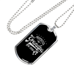 Promoted to Grandpa-Military Chain/Pendant, personalized