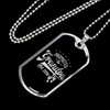 Image of Promoted to Grandpa-Military Chain/Pendant, personalized