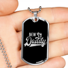 Image of New Daddy-Military Chain and Pendant, personalized