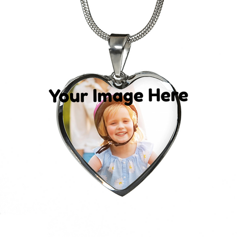 Heart Necklace/ Bracelet- Upload Your Own Photo!