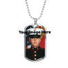 Image of Dog Tag style necklace-Upload Your Own Photo!-Personalized engraving on the back!
