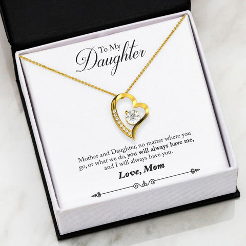 Mom to Daughter Always Forever Love Necklace