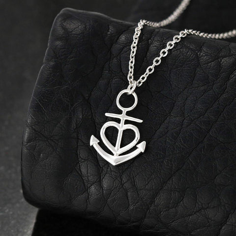 My Best Friend in High Tide or Low Tide -Anchor Necklace with Story Card