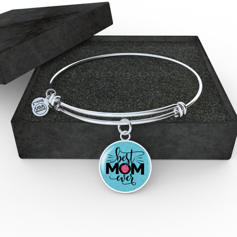 Best Mom Ever, Necklace or Bangle, personalized - Sweet Dragon Mama
