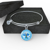 Image of FirstMomsDay2018Blue, Bracelet Bangle personalized