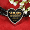 Image of Mom My Rock-Woven Leather Charm Bracelet or Silver Charm alone, personalized
